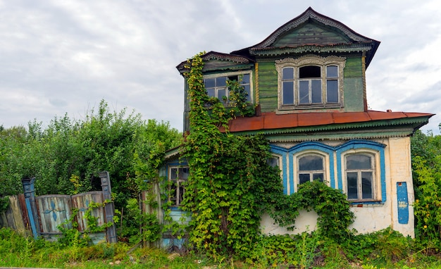 Old wooden house in russia.
