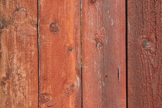 Old wooden painted boards background