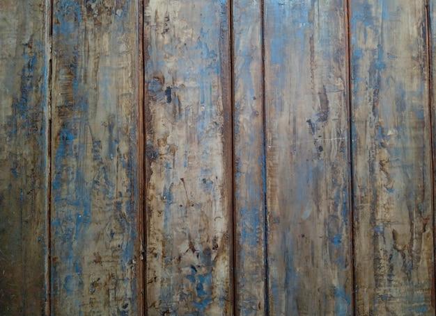 古い木製の塗装テクスチャ、古い青い塗装の木製ドア、背景。