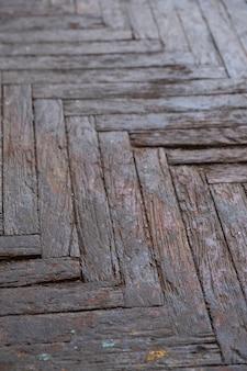 Old wooden parquet flooring