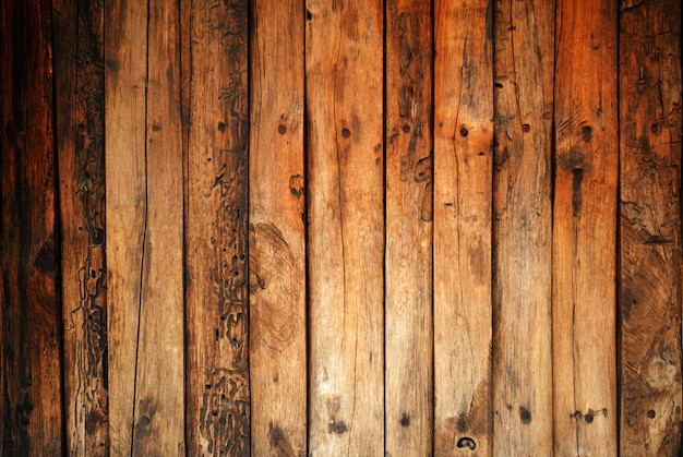 Old wooden planks abstract background.