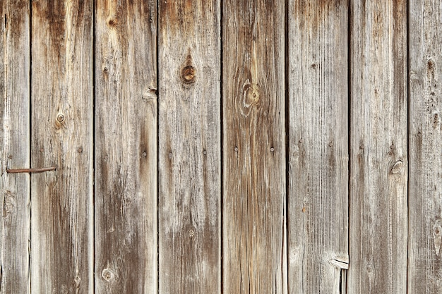 Old wooden shed boards with peeling paint.