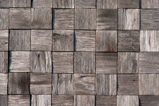 Old wooden square pattern background
