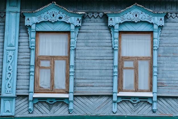Old wooden vintage windows