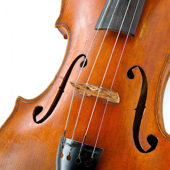 Old wooden violin