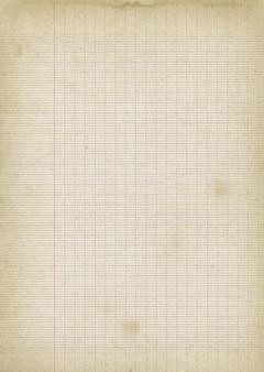 Старая изношенная предпосылка текстуры листа выровненной бумаги.