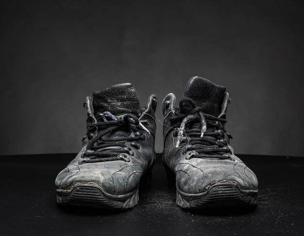 오래 된 낡은 신발