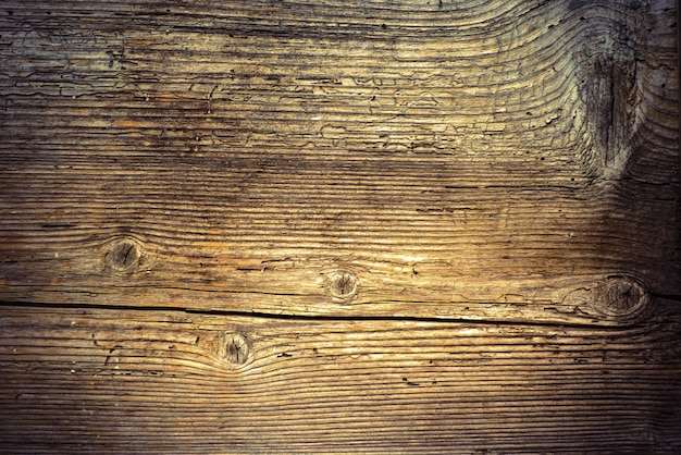 Old worn wood board or table background