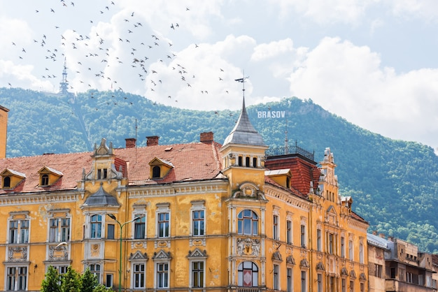 Old yellow building in brasov