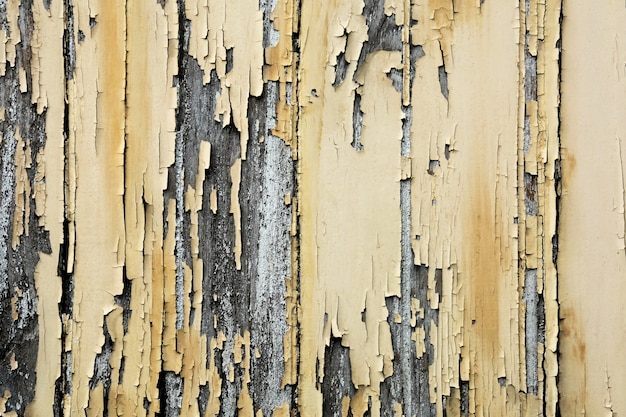 Old yellow on wood texture