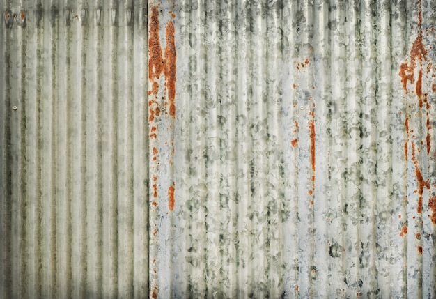 Old zinc wall texture, rusty on galvanized metal panel sheeting.