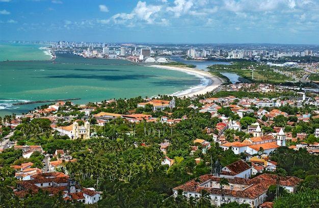 Olinda, with recife in the background, pernambuco, brazil