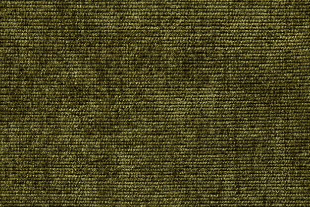 Olive green background from a soft textile material