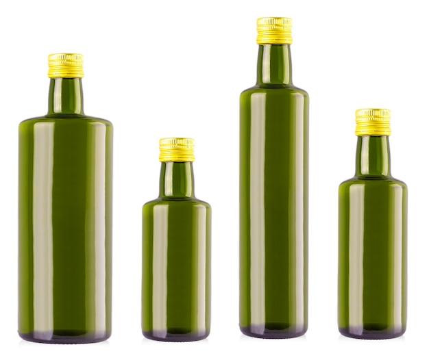 白のオリーブオイルボトル