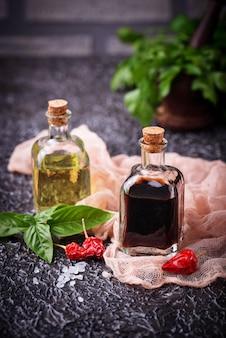 Olive oil and vinegar