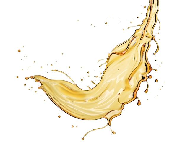 Изолированный всплеск оливкового или моторного масла