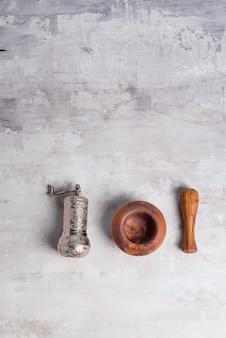 Olive pestle and turkish spice grinder