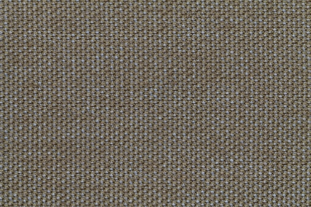 Olive textile background with checkered pattern,  structure of the fabric