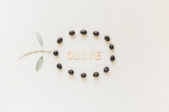 Oliveword in circle of olives