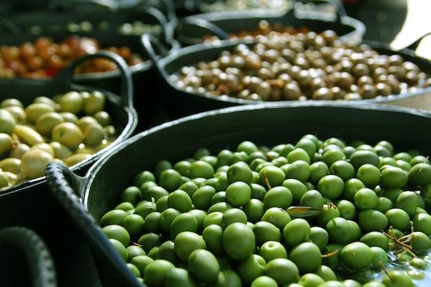 Olives in pickling brine