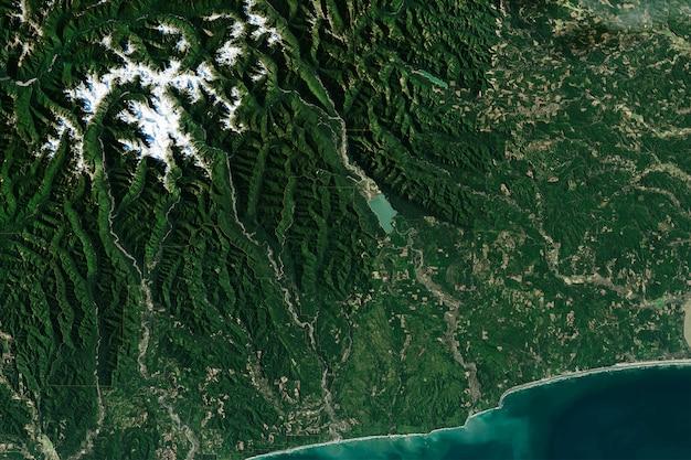 オリンピック国立公園の上面図