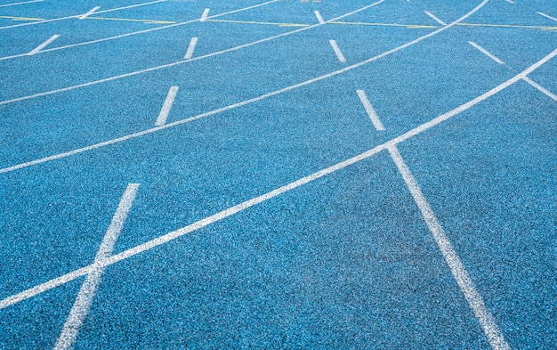 Olympic stadium blue tartan track -  texture