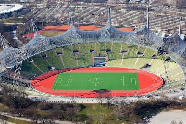 The olympic stadium in munich in germany