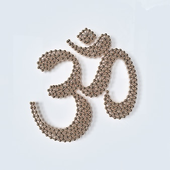 Om aum gold symbol 3d illustration