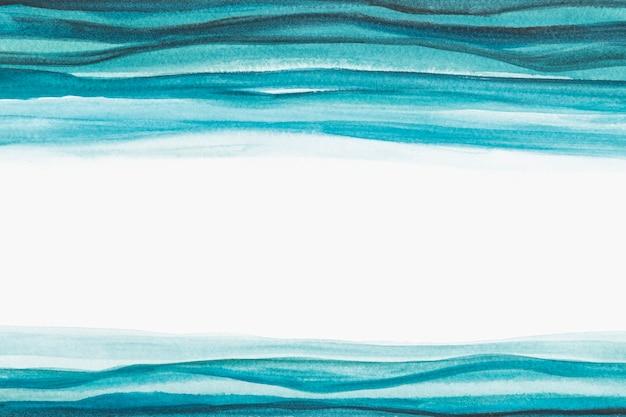 オンブルブルーの水彩ボーダー抽象的なスタイル