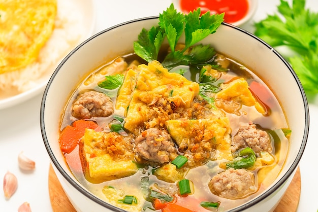 Omelet soup - thai side dish