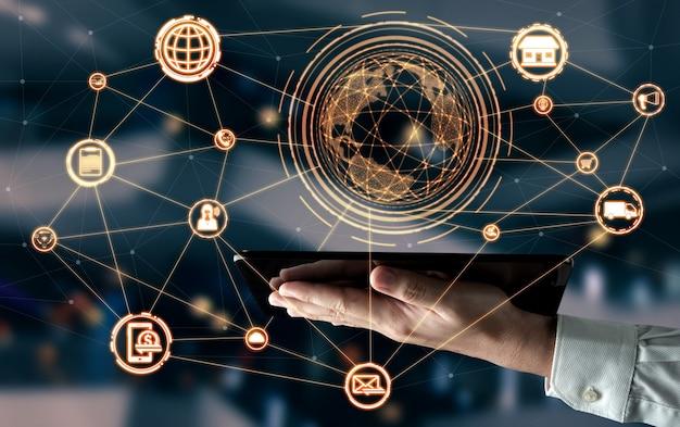 온라인 소매 비즈니스의 옴니 채널 기술.
