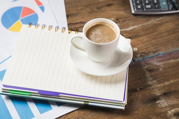데스크톱 커피, 메모장, 통계 및 계산기에서
