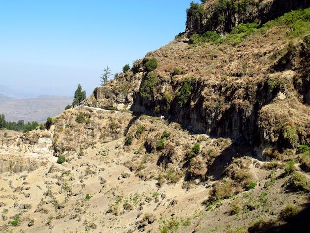 エチオピアのラリベラ市に近い山で