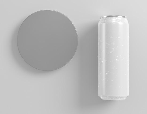 Одна абстрактная алюминиевая банка для презентации напитков
