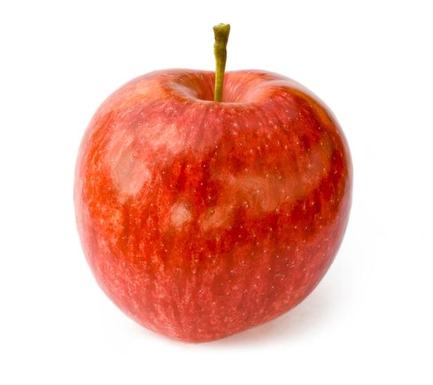 白い背景に分離された1つのリンゴ