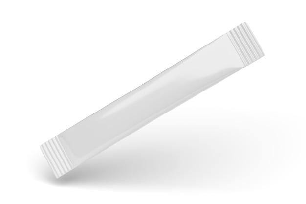 고립 된 하나의 빈 흰 설탕 스틱 향 주머니 팩