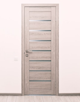 家の中の1つの真新しい木製のドア