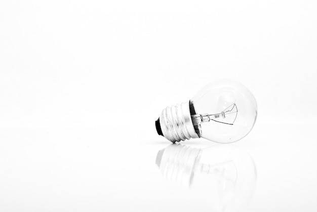 One bulb lamp isolated