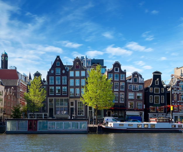One of canals in amsterdam