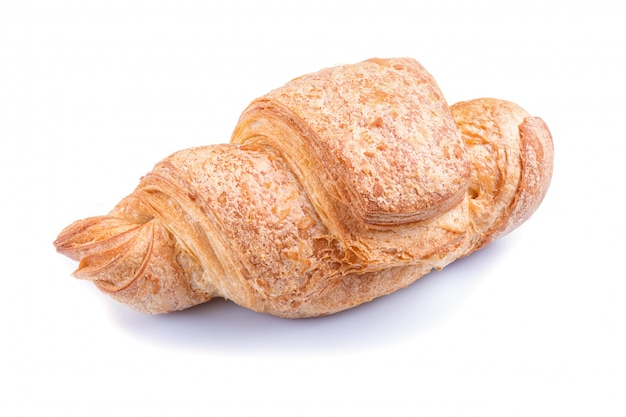 One croissant  isolated on white