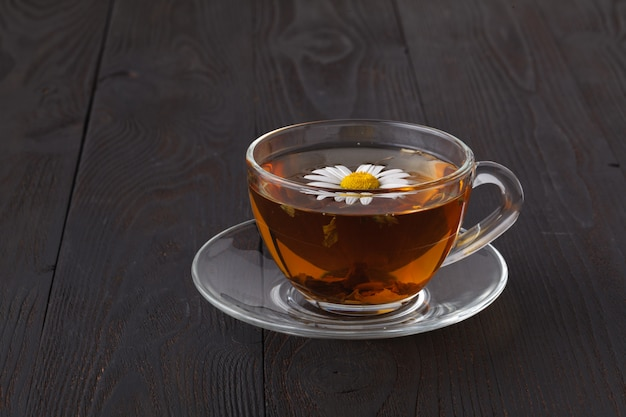 One cup of herbal camomile tea