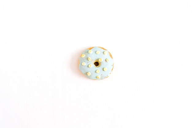 One donut. minimal flat lay