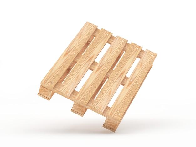 Один пустой грузовой деревянный поддон