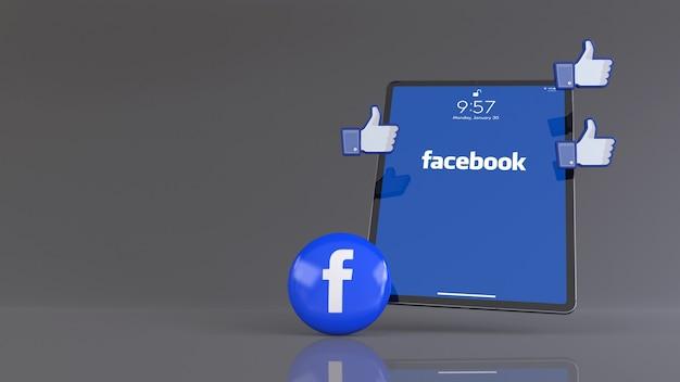 Одна таблетка facebook и иконки лайков