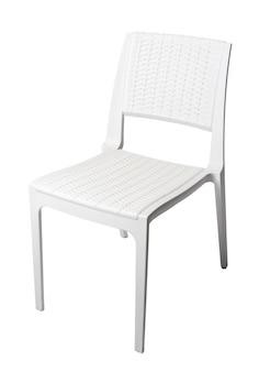 흰색 배경에 고립 된 하나의 정원 의자