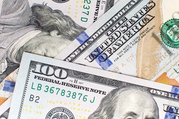 One hundred 100 american dollars background