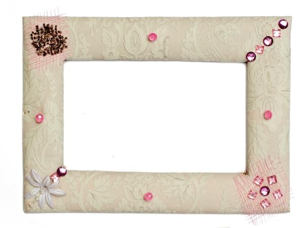 Одна изолированная рамка на белом фоне