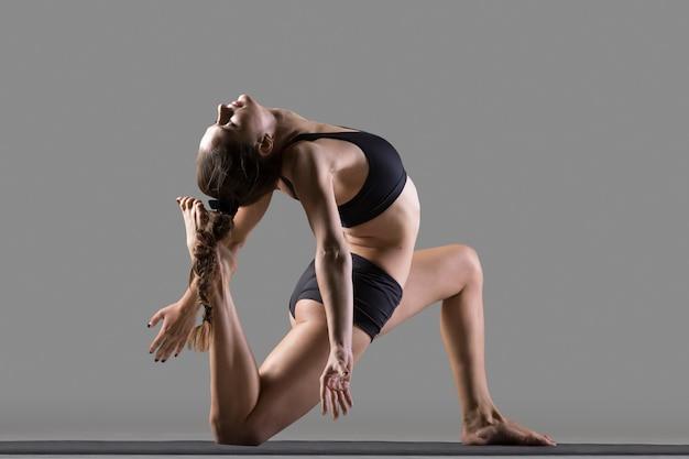 One legged king pigeon yoga pose