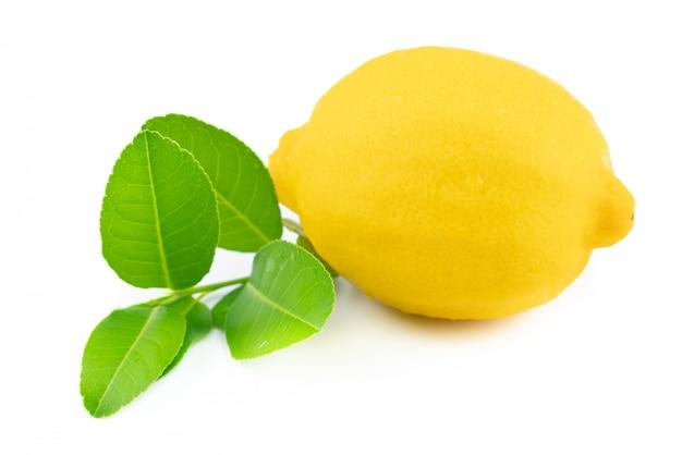 葉とレモン1個