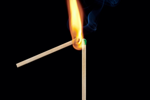One match sets fire to another the concept is infected with a new idea